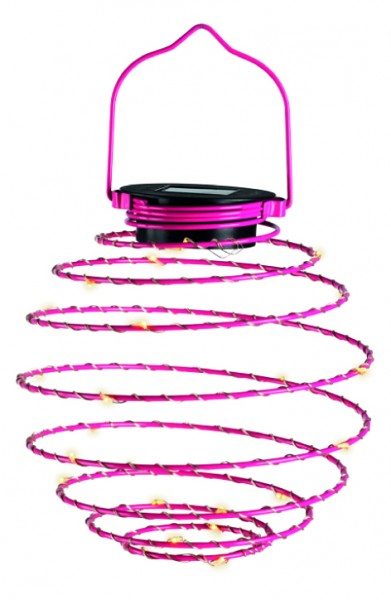 LED Mini-Solar-Spirale rot/pink