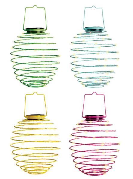 LED Solar-Spirale 4er Set Dekoleuchte Kunststoff/Metall