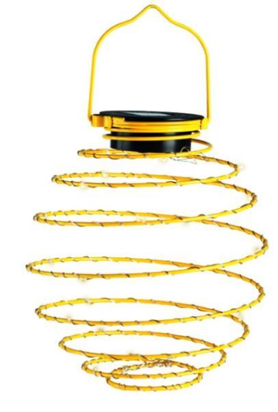 LED Mini-Solar-Spirale gelb